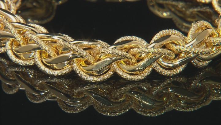 Moda Al Massimo® 18K Yellow Gold Over Bronze Designer Link Bracelet 8.25 Inch