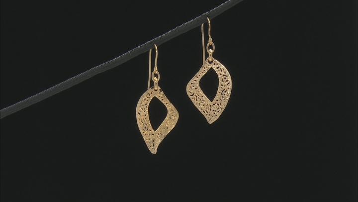 Moda Al Massimo™ 18k Yellow Gold Over Bronze Filigree Dangle Earrings