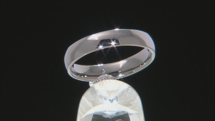 Moda Al Massimo® Gunmetal Rhodium Over Bronze Comfort Fit 4MM Band Ring