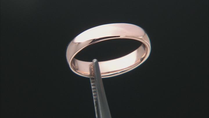 Moda Al Massimo® 18k Rose Gold Over Bronze Comfort Fit 4MM Band Ring
