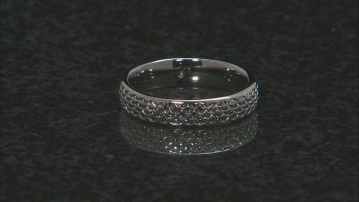 Moda Al Massimo® Gunmetal Rhodium Over Bronze Comfort Fit 4MM Designer Band Ring
