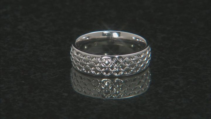 Moda Al Massimo® Rhodium Over Bronze Comfort Fit 6MM Designer Band Ring