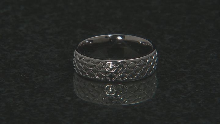 Moda Al Massimo® Gunmetal Rhodium Over Bronze Comfort Fit 6MM Designer Band Ring