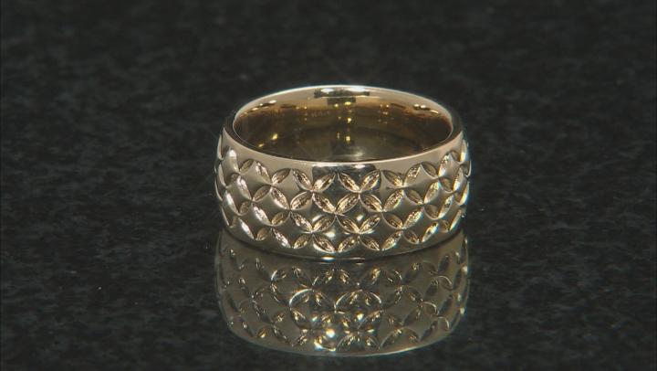 Moda Al Massimo® 18k Yellow Gold Over Bronze Comfort Fit 8MM Designer Band Ring