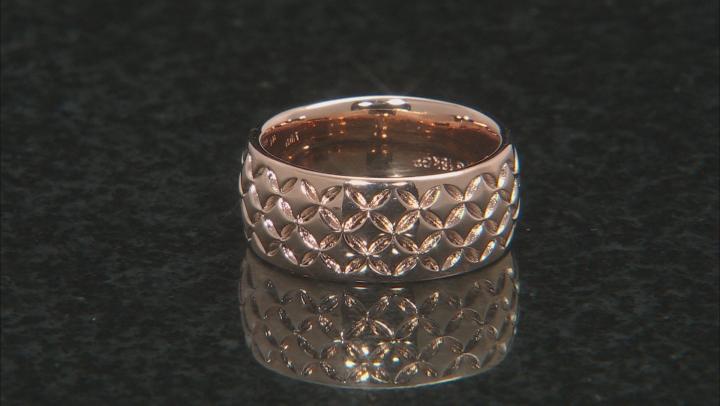 Moda Al Massimo® 18k Rose Gold Over Bronze Comfort Fit Designer Band Ring