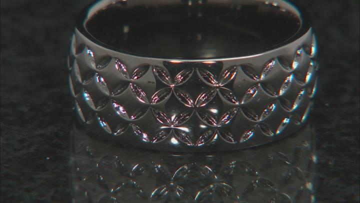 Moda Al Massimo® Gunmetal Rhodium Over Bronze Comfort Fit 8MM Designer Band Ring