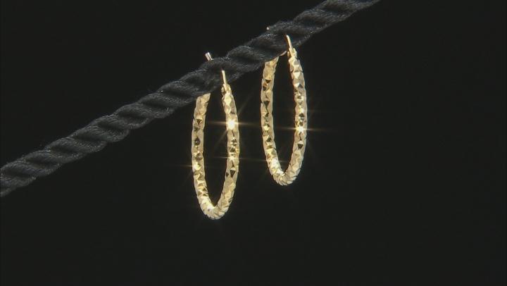 18k yellow gold over bronze hoop earrings.