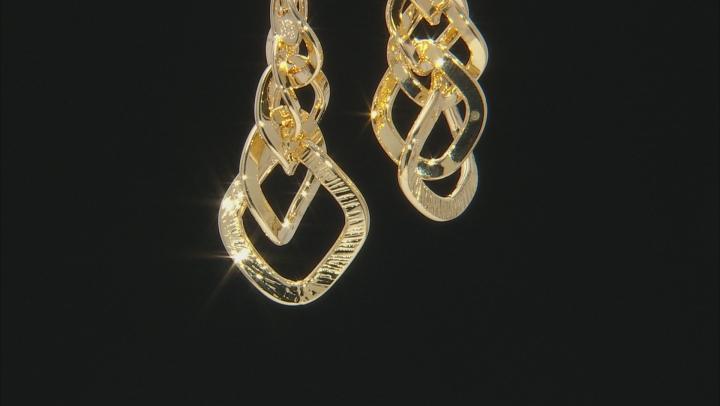 18k yellow gold over bronze earrings.
