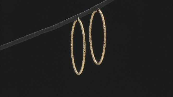 MODA AL MASSIMO™ 18K Yellow Gold Over Bronze 45MM Diamond Cut Earrings
