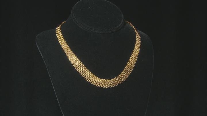 MODA AL MASSIMO™ 18K Yellow Gold Over Bronze Graduated Bismark Necklace 18
