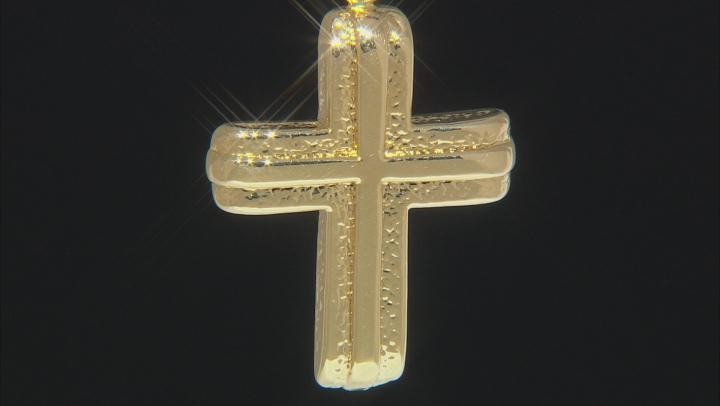 MODA AL MASSIMO™ 18K Yellow Gold Over Bronze Cross Pendant