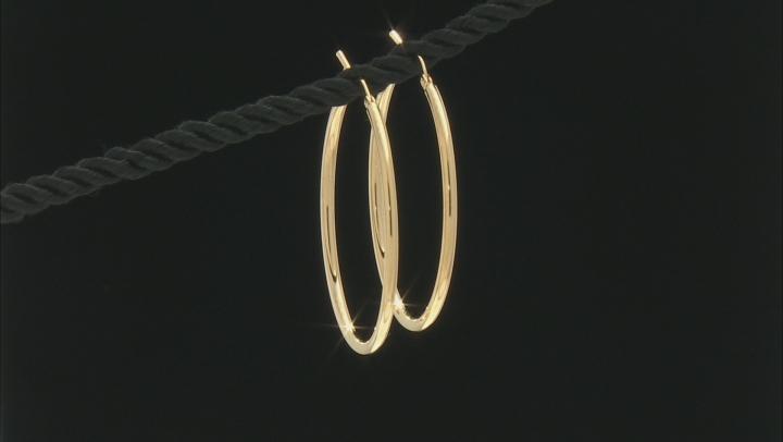 MODA AL MASSIMO(TM) 18K YELLOW GOLD OVER BRONZE 35MM HIGH POLISH EARRINGS.