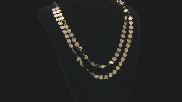 Moda Al Massimo ® 18k Yellow Gold Over Bronze Multi Row Necklace 32 inch