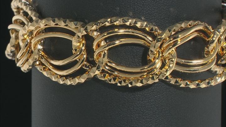Moda Al Massimo ® 18k Yellow Gold Over Bronze Oval Link Bracelet