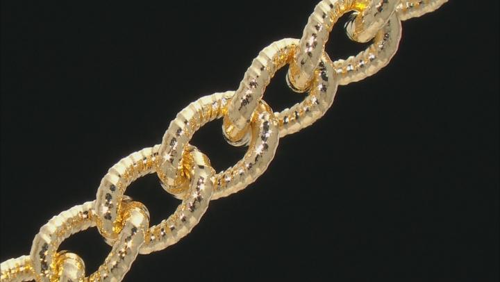 Moda Al Massimo™ 18K Yellow Gold Over Bronze Cuban Link 7.5 Inch Bracelet