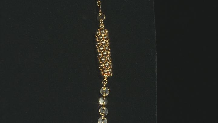Moda Al Massimo™ 18K Yellow Gold Over Bronze Mirror Chain 34.5 Inch Necklace