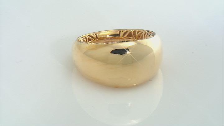 Moda Al Massimo™ 18K Yellow Gold Over Bronze Polished Dome Ring