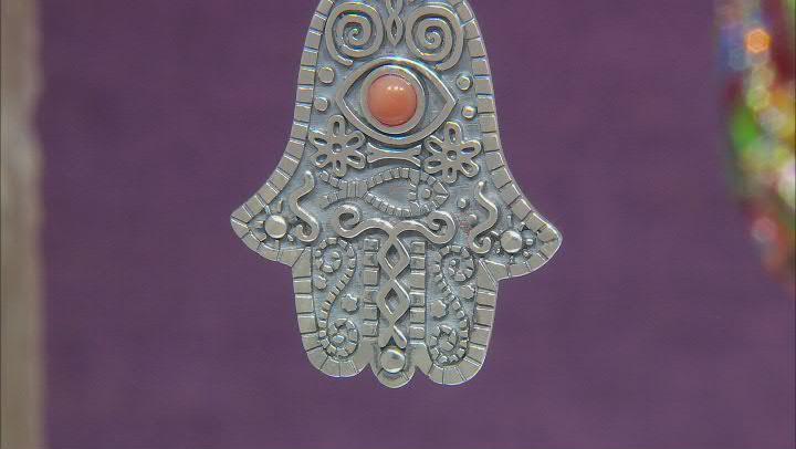 Onyx Sterling Silver Hamsa & Evil Eye Enhancer