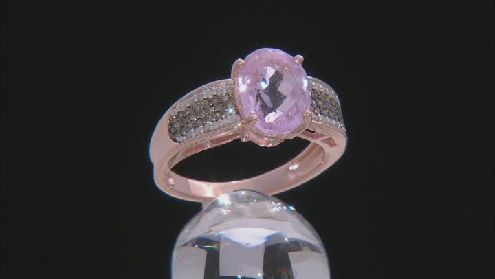 Pink Kunzite 18k Rose Gold Over Silver Ring 3.25ctw
