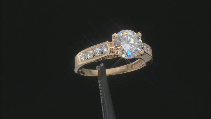 Moissanite 14k Yellow Gold Ring 2.38ctw DEW
