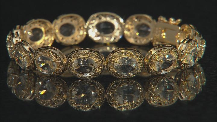 Yellow Labradorite 18k Gold Over Silver Bracelet 16.64ctw