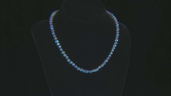 Multi-Color Quartz Rhodium Over Silver Necklace Approximately 110.61ctw