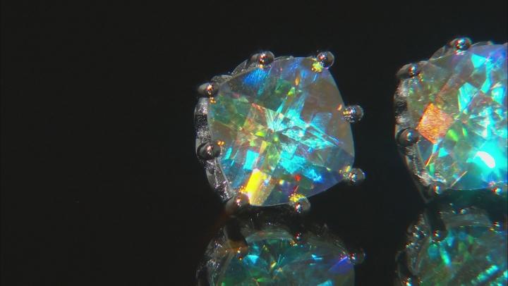 Multicolor Mercury Mist(R) topaz rhodium over silver earrings 4.35ctw