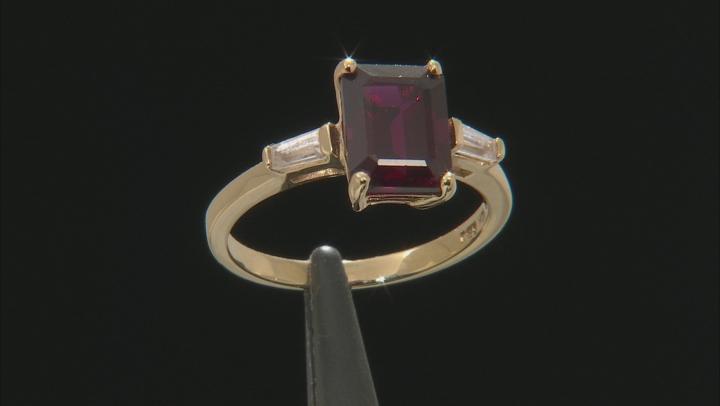 Grape Color Garnet 10k Yellow Gold Ring 3.03ctw