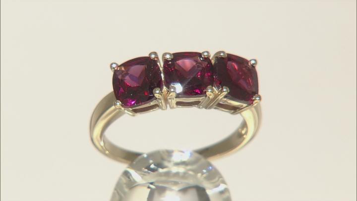 Grape Color Garnet 10k Yellow Gold Ring 2.81ctw