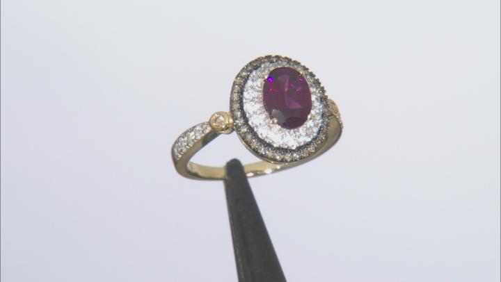 Purple Grape Color Garnet 10k Yellow Gold Ring 1.72ctw