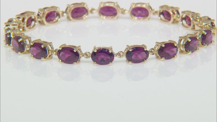 Purple Garnet 10k Yellow Gold Bracelet 14.15ctw