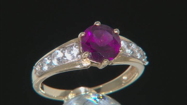 Grape Color Garnet 10k Yellow Gold Ring 1.69ctw