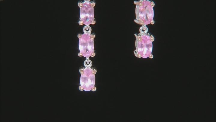 Pink Spinel Sterling Silver Earrings 1.61ctw