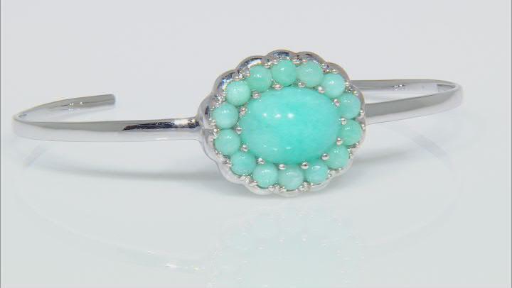 Blue Amazonite Sterling Silver Cuff Bracelet
