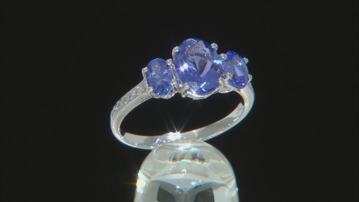 Blue Tanzanite Rhodium Over 18k White Gold Ring 2.65ctw