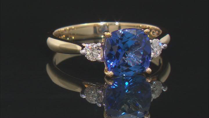 Blue Tanzanite 18k Yellow Gold Ring 1.94ctw