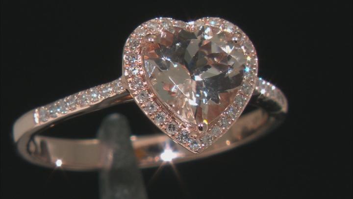 Pink Cor De Rosa Morganite 14K Rose Gold Heart Ring. 1.89ctw