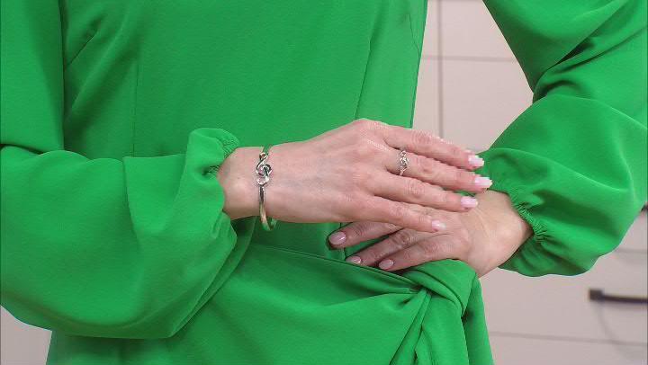 Rhodium Over Sterling Silver Treble Clef Bracelet