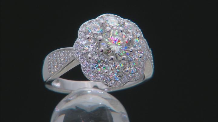 Moissanite Platineve Ring 2.68tw DEW.