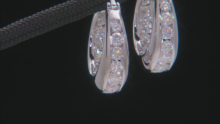Moissanite Platineve Hoop Earrings 2.04ctw D.E.W