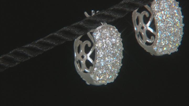 Moissanite Platineve Hoop Earrings 3.00ctw DEW.