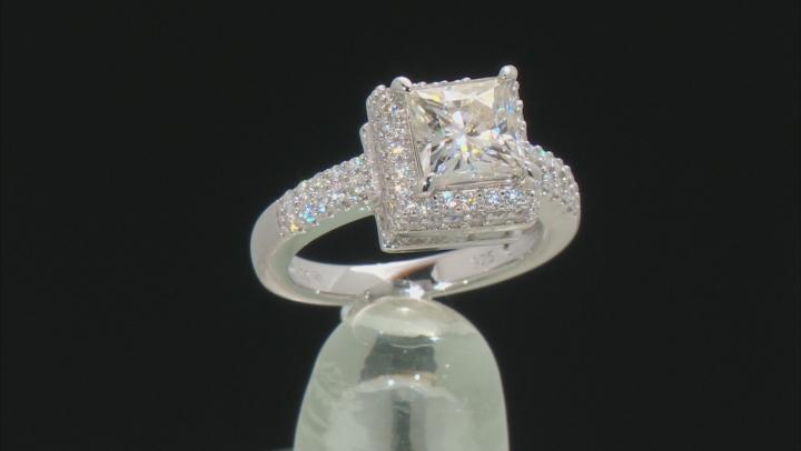 Moissanite Platineve Ring 3.94ctw DEW.