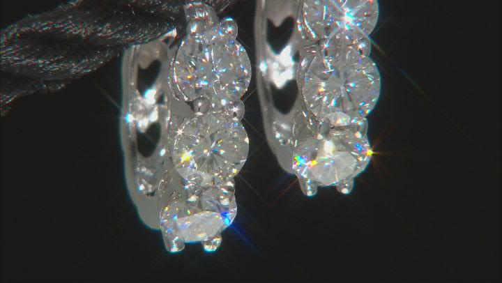 Moissanite platineve hoop earrings 1.98ctw DEW