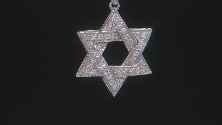 Moissanite Platineve Star Of David Pendant .72ctw DEW.
