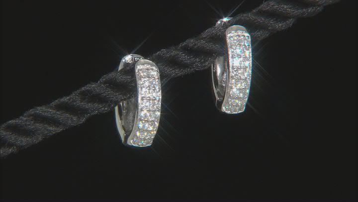 Moissanite Platineve Hoop Earrings .32ctw DEW.