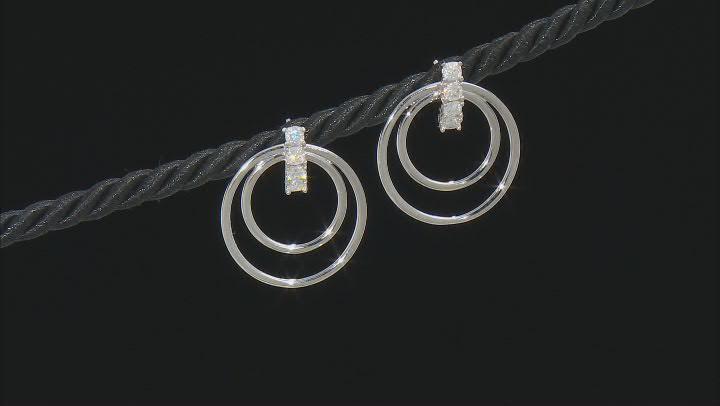 Moissanite Platineve Interchangeable Earrings 1.04ctw DEW