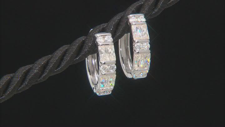 Moissanite platineve hoop earrings 1.08ctw DEW