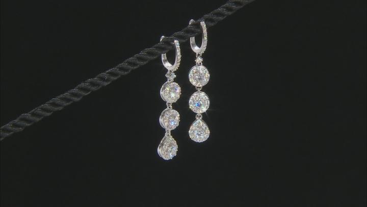 Moissanite Platineve Earrings 3.00ctw D.E.W