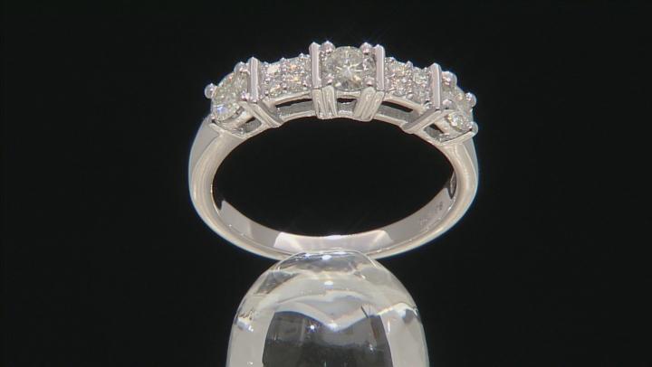 Moissanite Platineve Ring .85ctw D.E.W