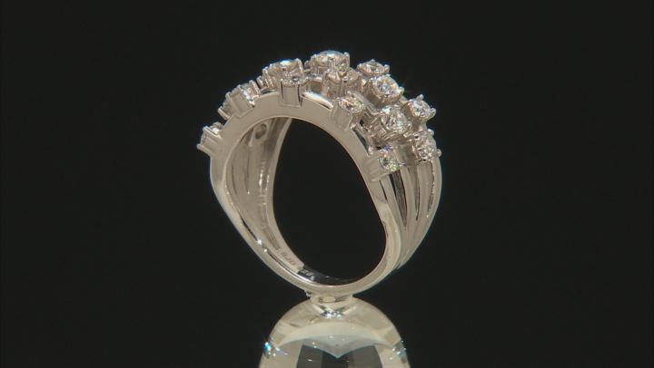 Moissanite Platineve Ring 1.35ctw D.E.W